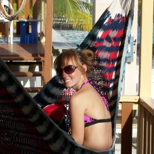 Brianna at Mara's Place on Caye Caulker