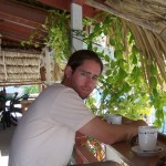 Ian at breakfast in Belize