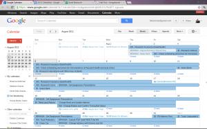 Our August Calendar