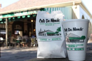 Cafe du Monde beignets and cafe au lait