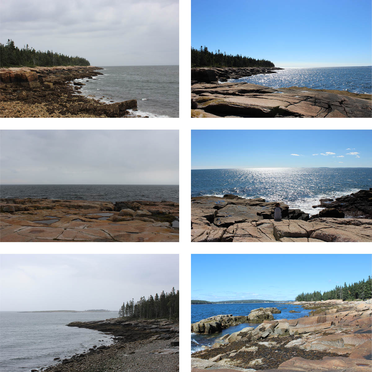 The contrasts of Schoodic Point