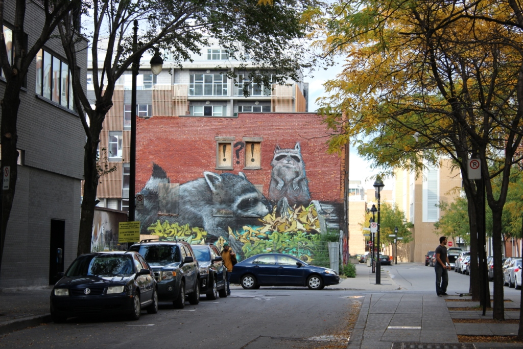 Mural in Montreal