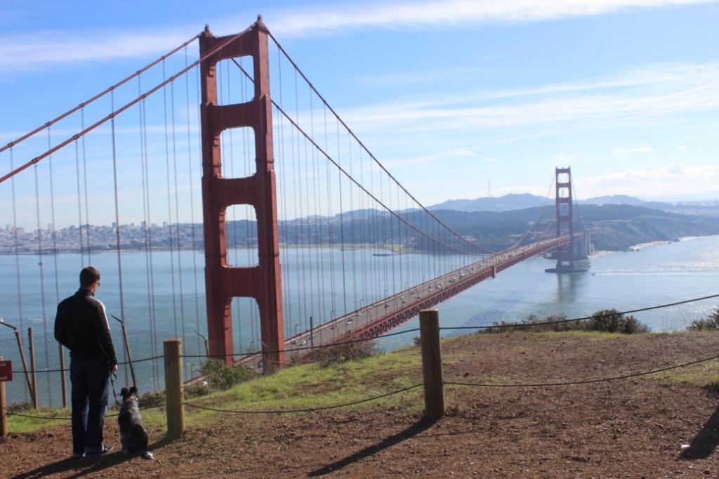 Ian and Maya and the Golden Gate Bridge