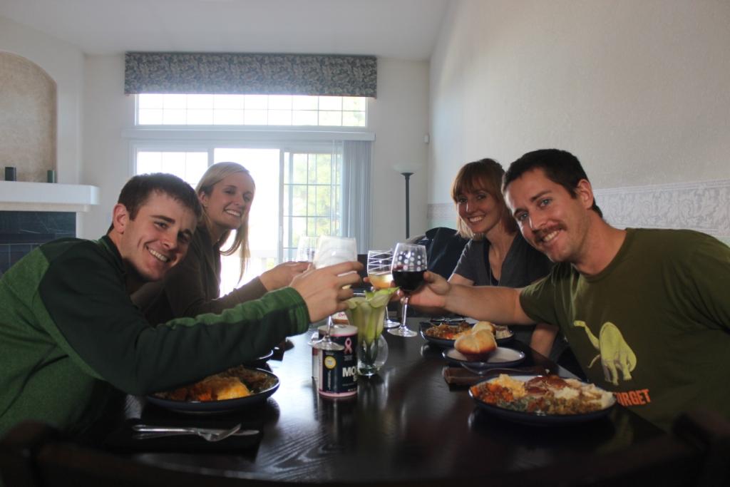 Sullivans and Kietzmans at Friendsgiving in Denver