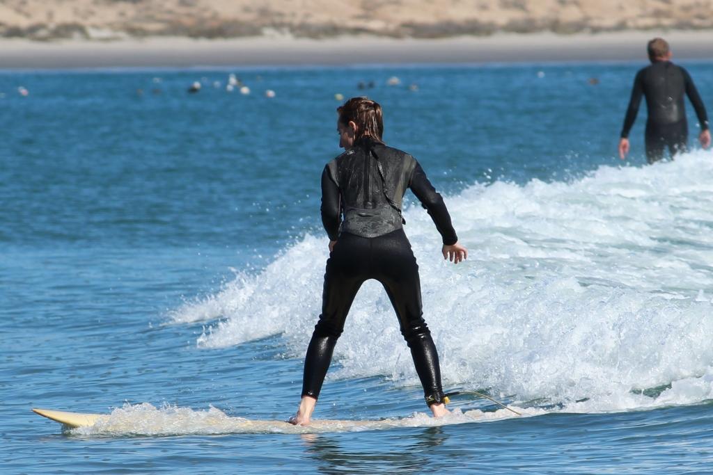 Brianna Surfing