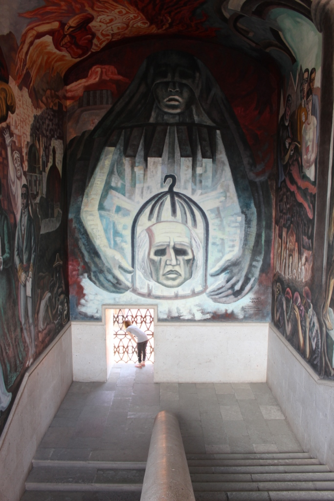 Stairway mural at la Alhondiga