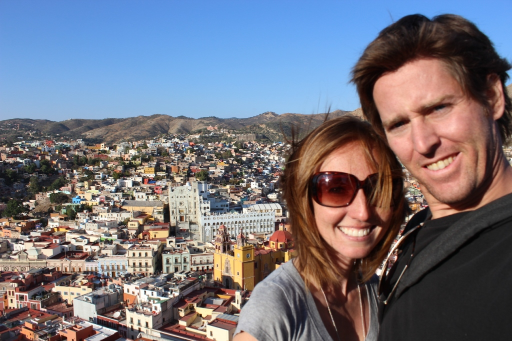 Brie and Ian Kietzman at El Pipila Monument in Guanajuato, Mexico