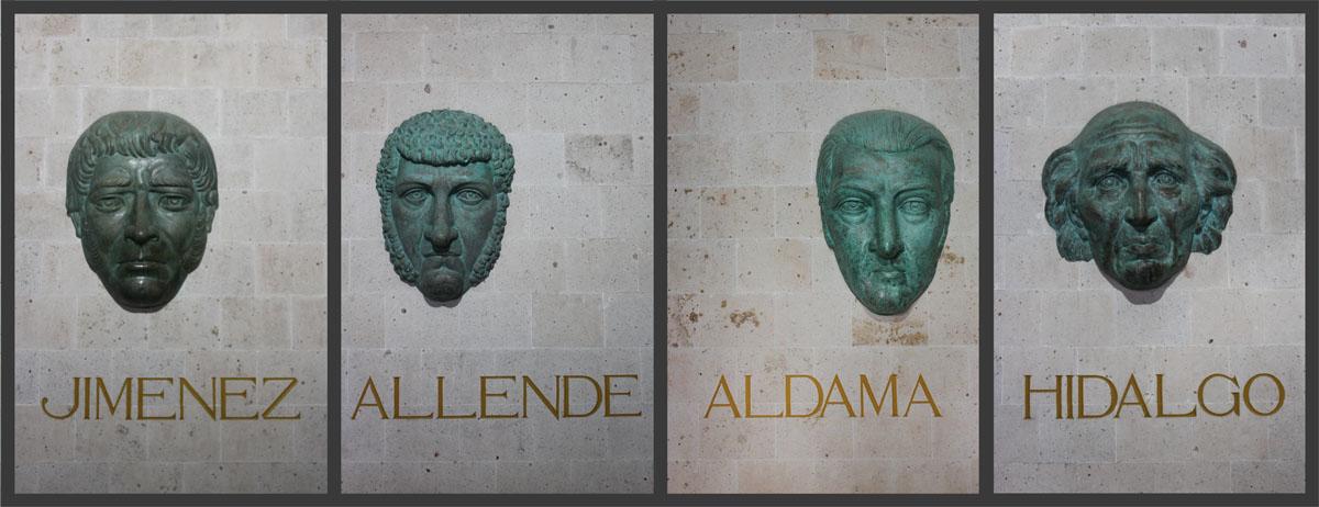 The four heads of the Alhondiga