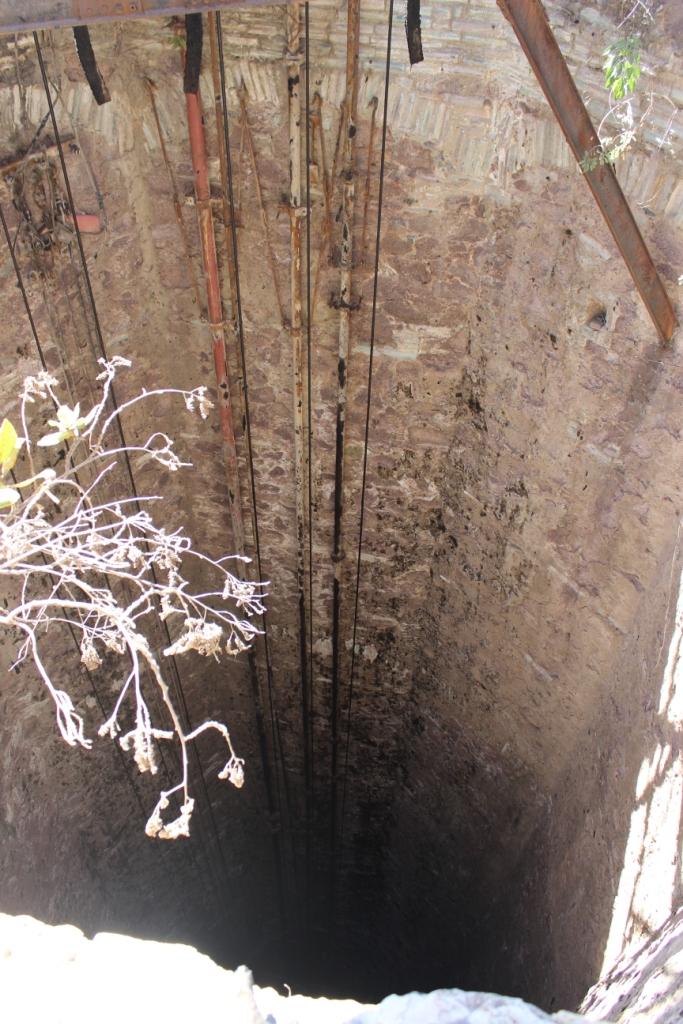 Into La Valenciana Mine Shaft