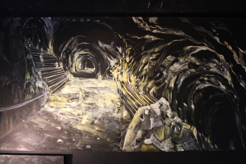 Painting of the Inside of the Mines at La Valenciana