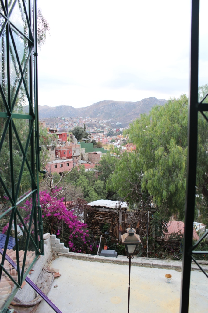 Vista Feliz Window View in Guanajuato, Mexico