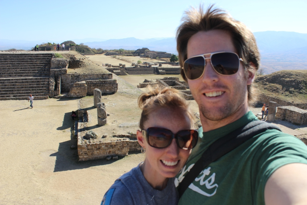 Ian and Brie at Monte Alban in Oaxacs