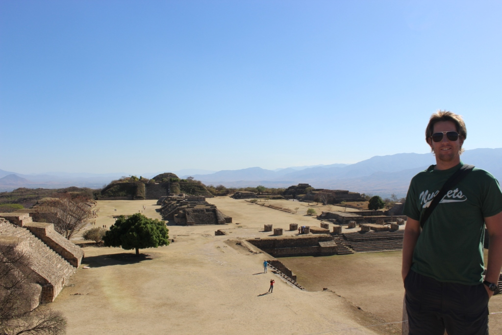 At Monte Alban in Oaxaca