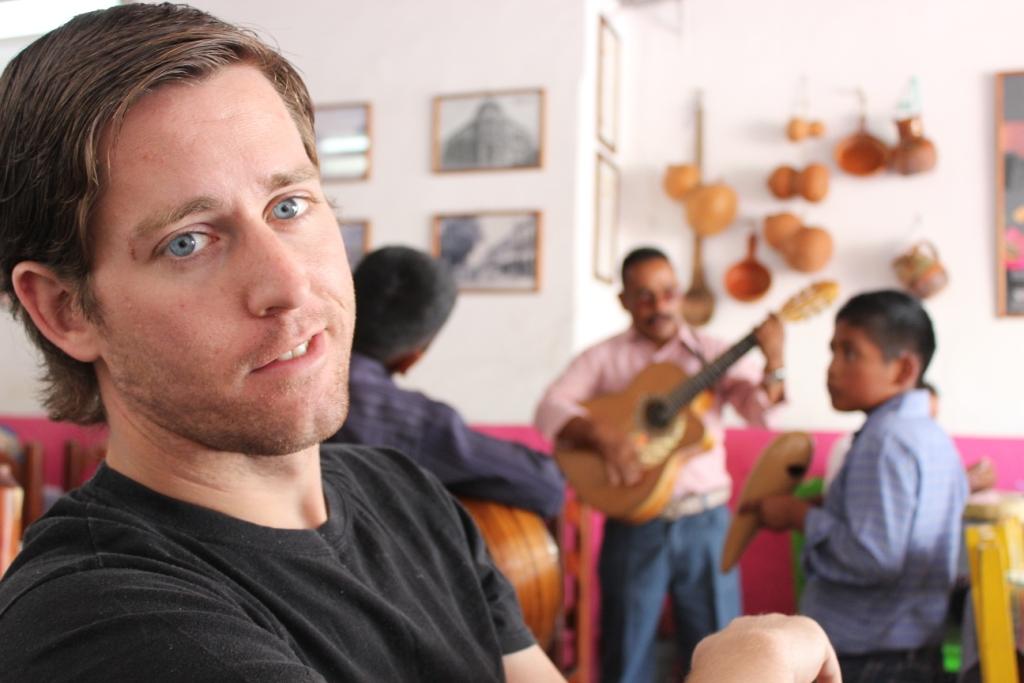 Ian at a comedor near Oaxaca's Zocalo