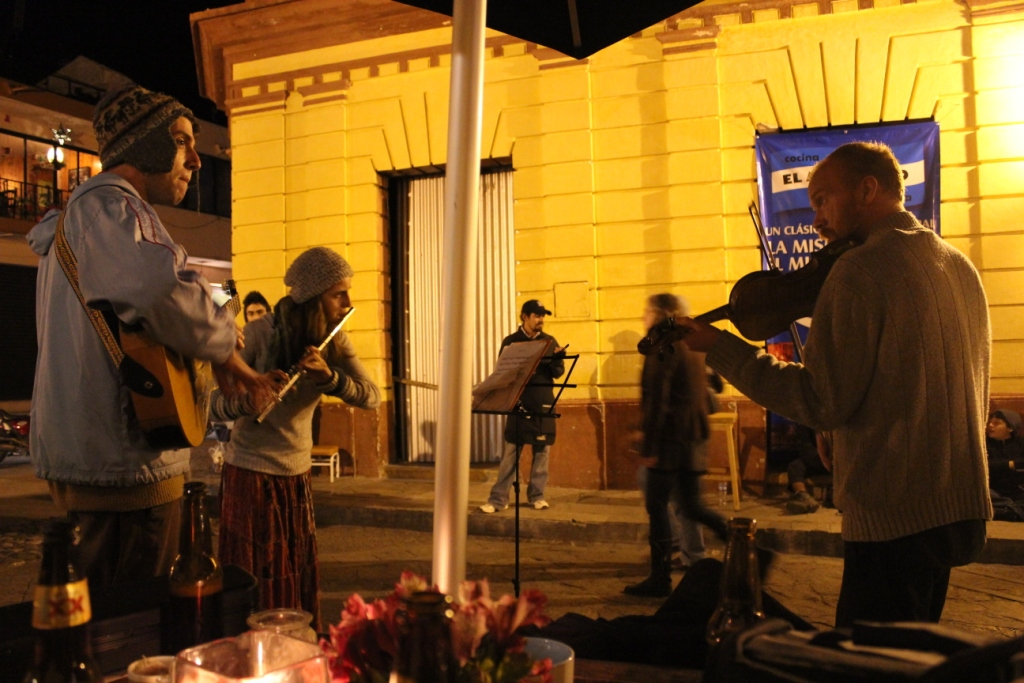 Musicians Near Our Outdoor Table