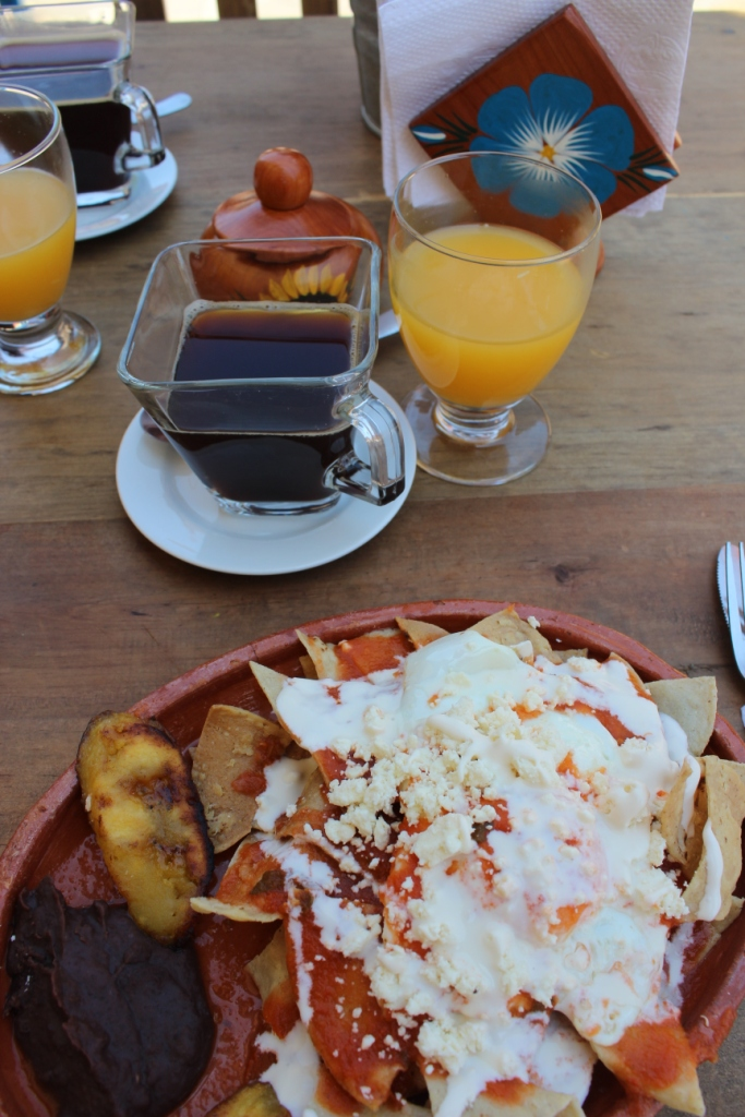 Chilaquiles for Breakfast
