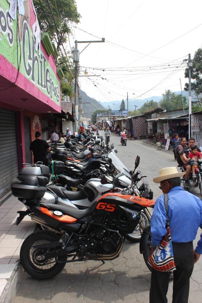 Calle Santander in Panajachel at Lago de Atitlan