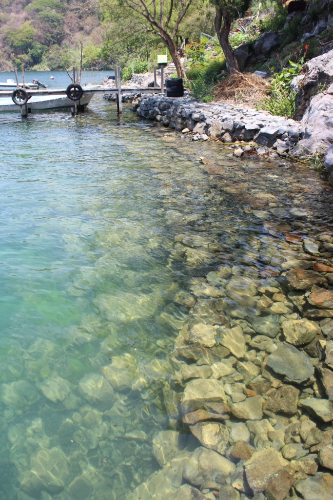 Why don't you bathe yourself in the crystal clear waters of Lago de Atitlan...