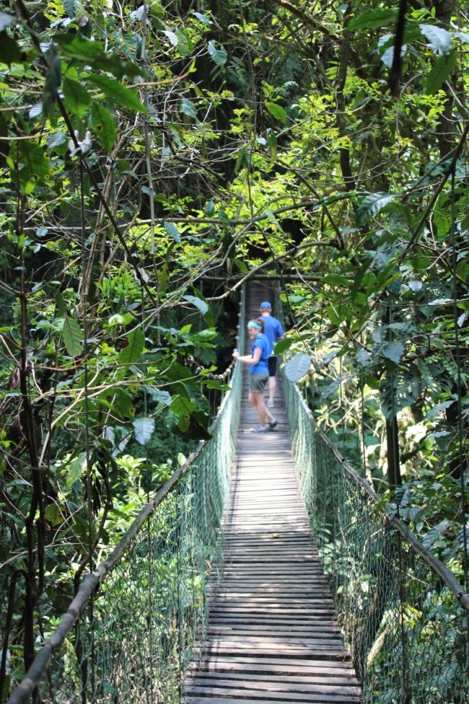 Suspension bridge at Reserva Natural Atitlán near Panajachel, Guatemala