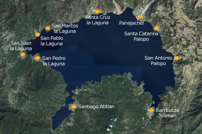 Lago de Atitlan Map
