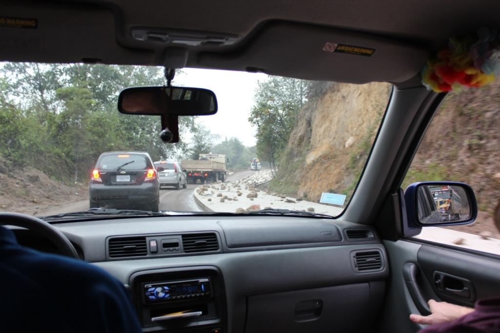Road construction near Lago de Atitlán, Guatemala