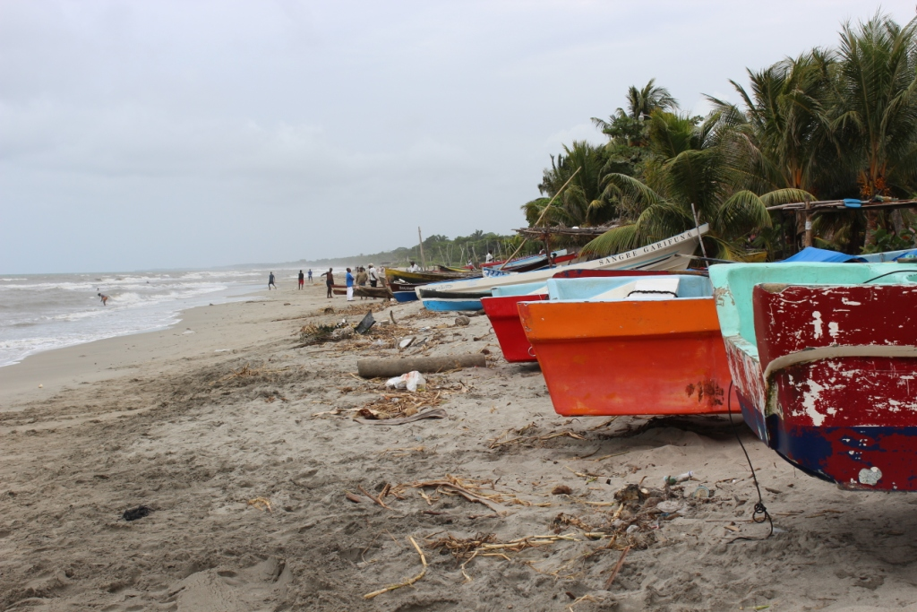 Boats on Sambo Creek's Beach