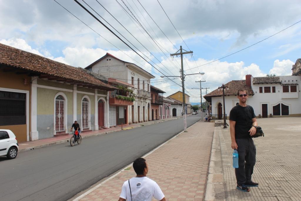 Outside Convento de San Francisco in Granada, Nicaragua