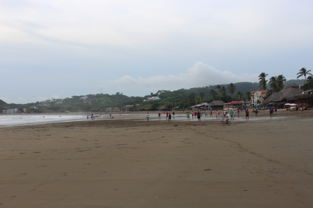 Soccer on the beach in San Juan del Sur