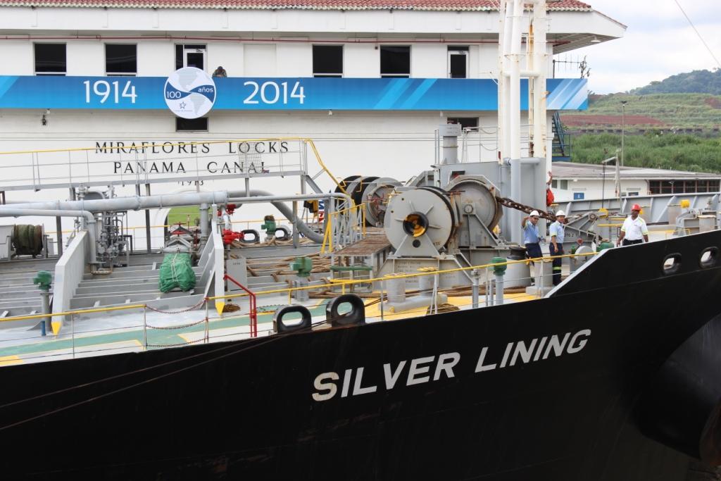Silver Lining Passes Through a Miraflores Lock