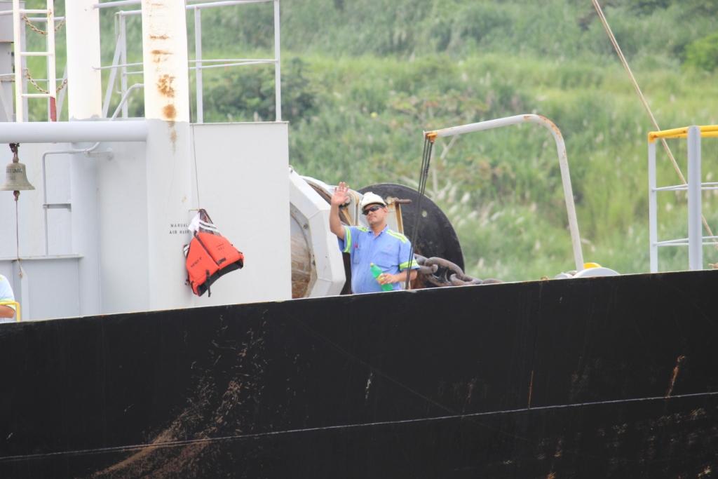 Ship Man Waving