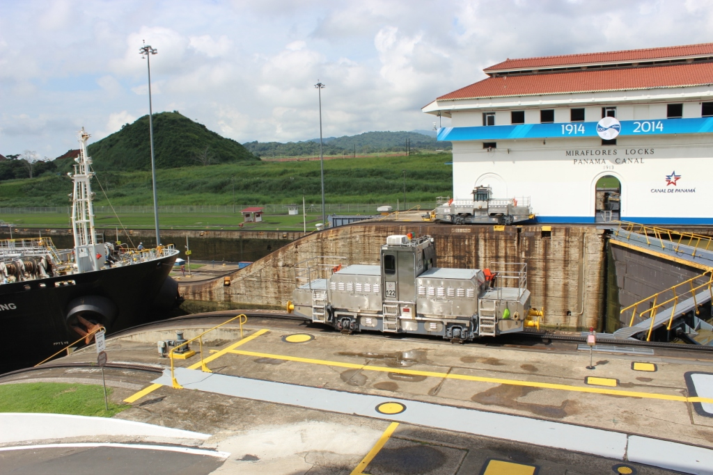 Trams at Work on Panama Canal
