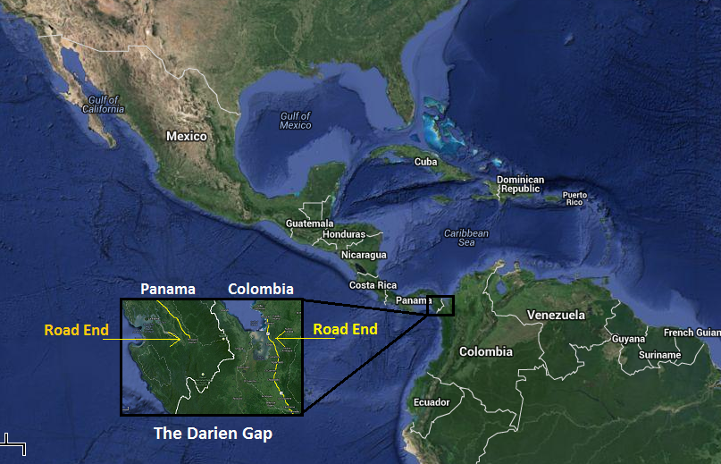 Darien Gap Map