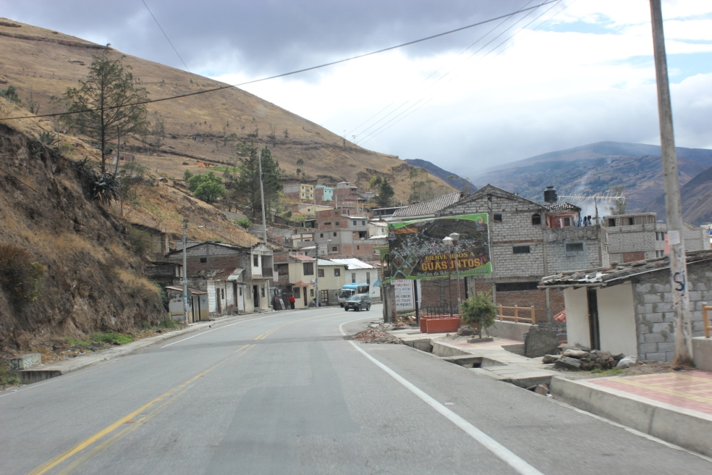 Driving through Ecuador