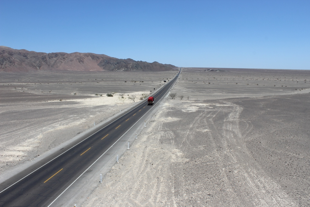 Highway in the Nazca Desert