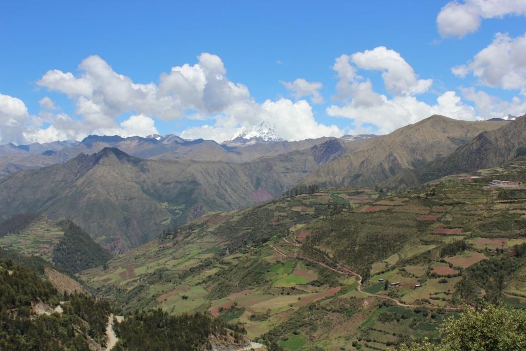 Farmland and mountains near Cusco, Peru
