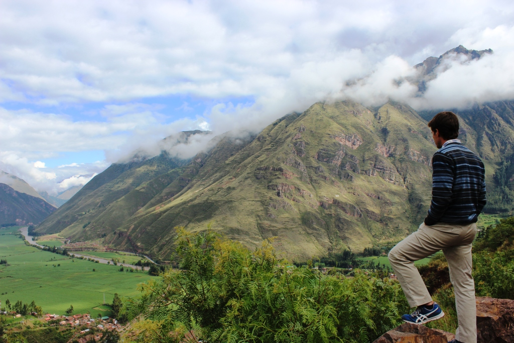 Ian Looks Over the Sacred Valley