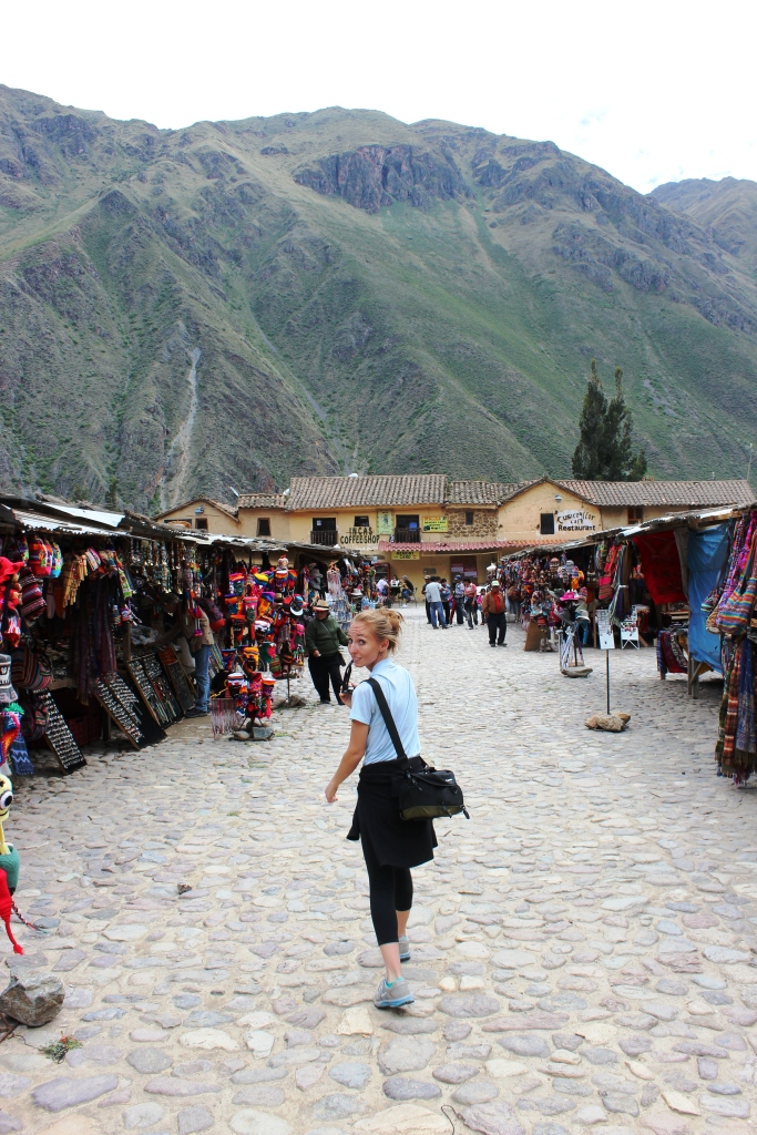 Brianna at the Ollantaytambo Market