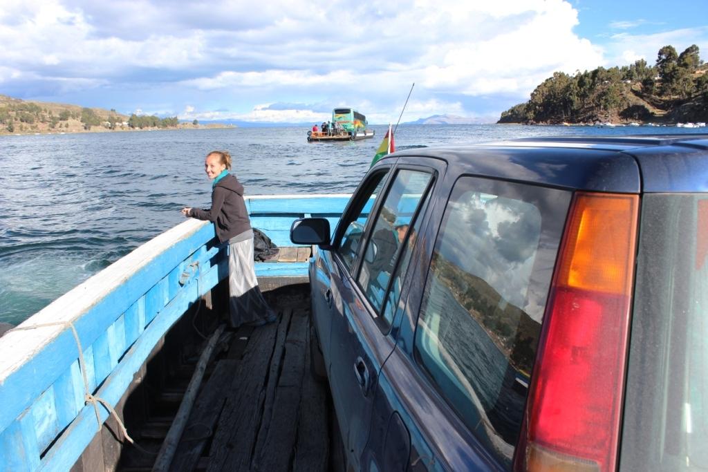 Brianna Crossing Titicaca