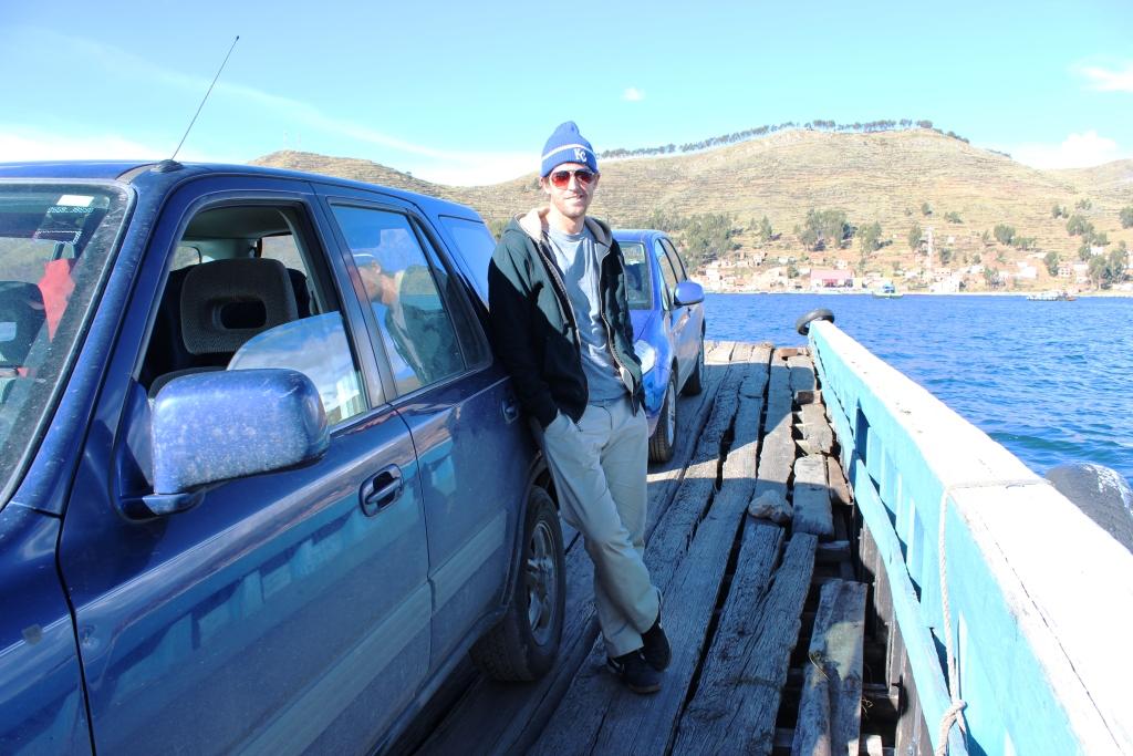 Ian Crossing Titicaca