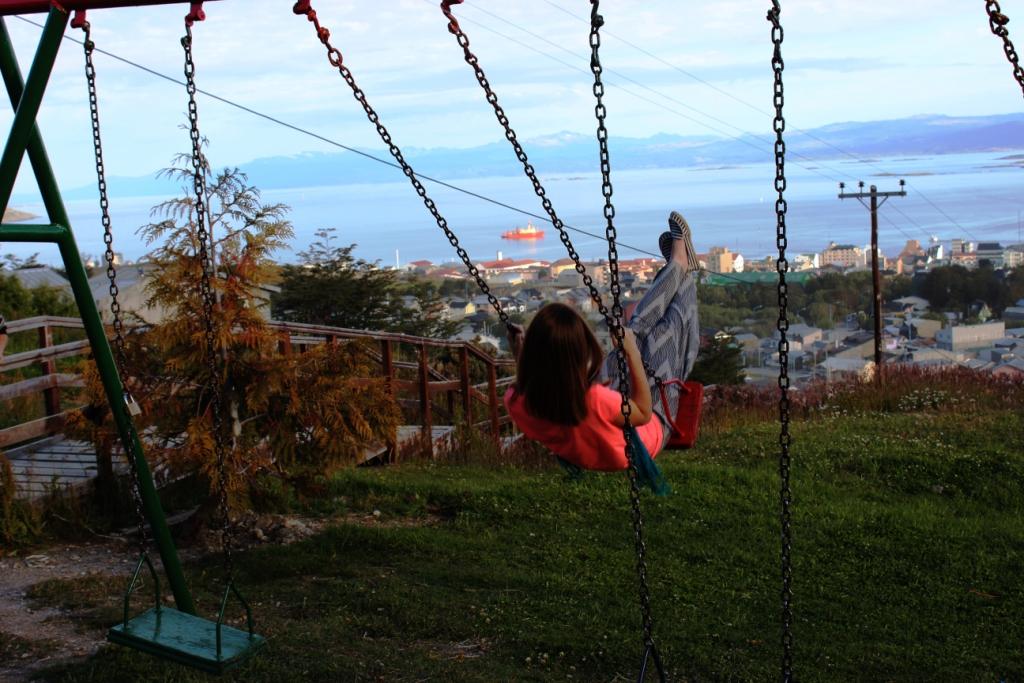 Swinging over Ushuaia