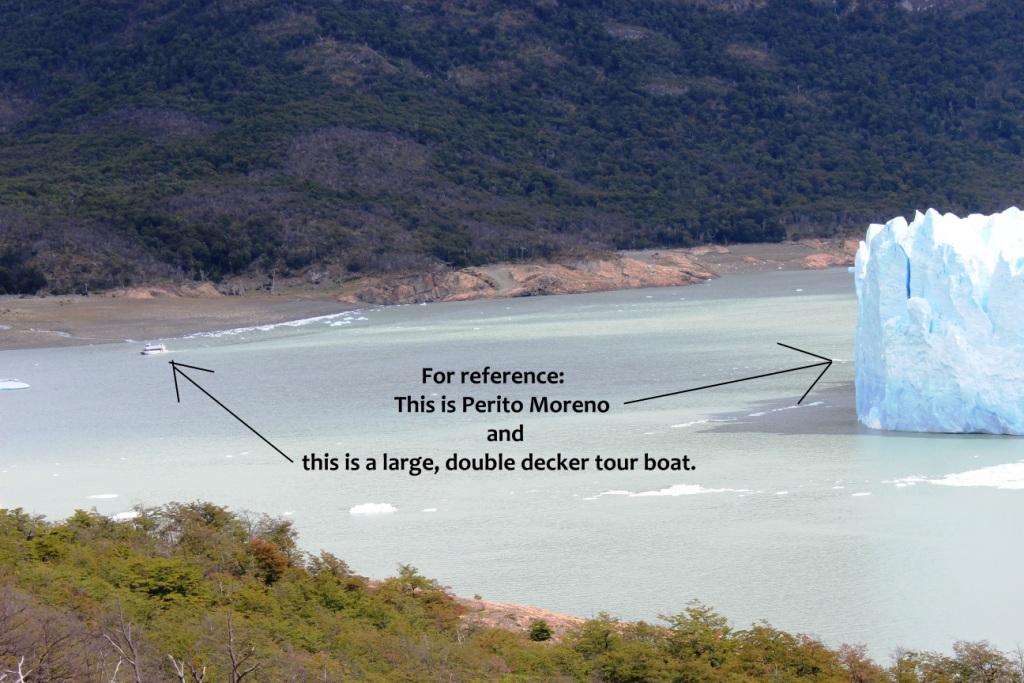 Perito Moreno Size Reference