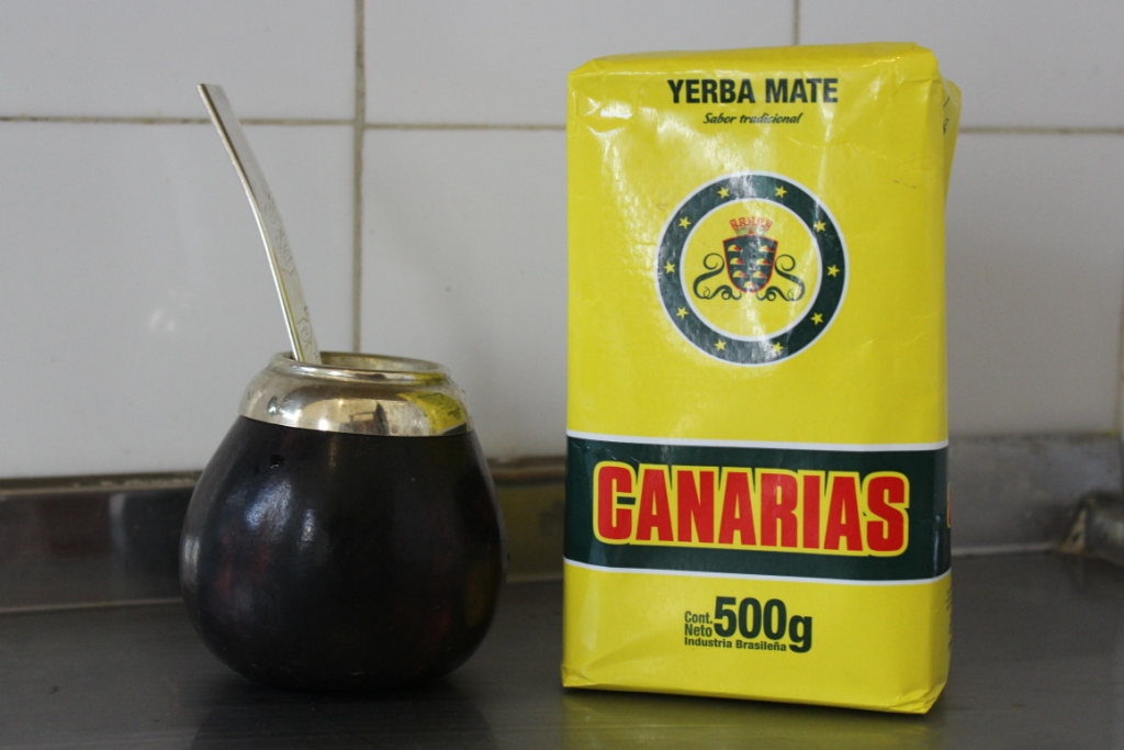 Yerba mate and bombilla